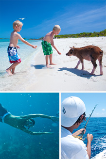 Try fishing, sailing and snorkeling in the Bahamas at Fowl Cay